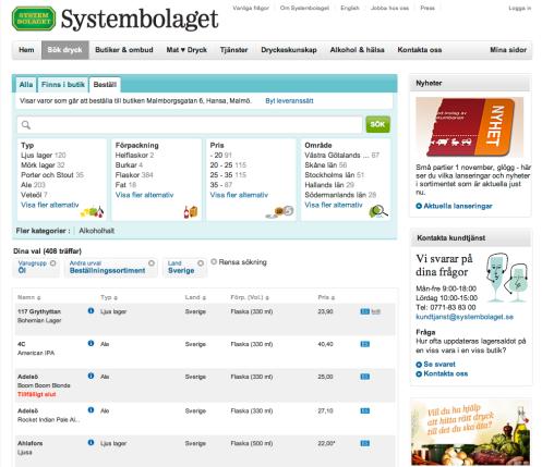Systembolagets beställningssortiment för svenskt öl